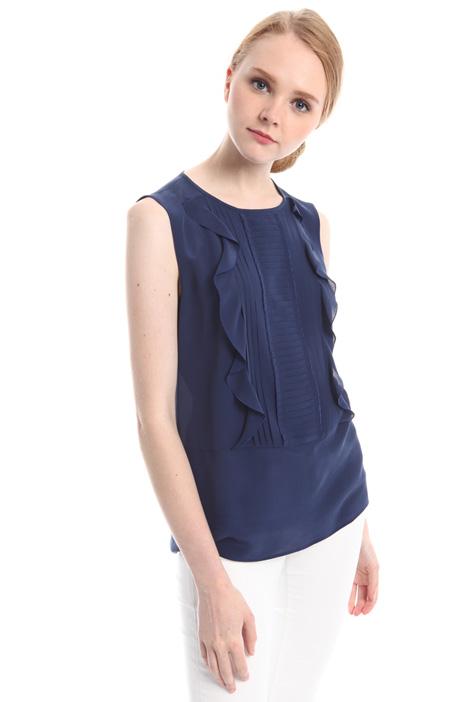 Blusa con volant e plissé Fashion Market
