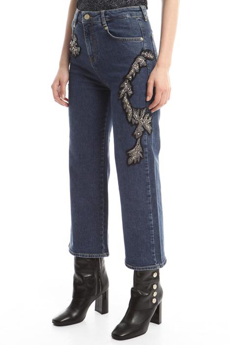 Jeans con ricami bijoux Fashion Market