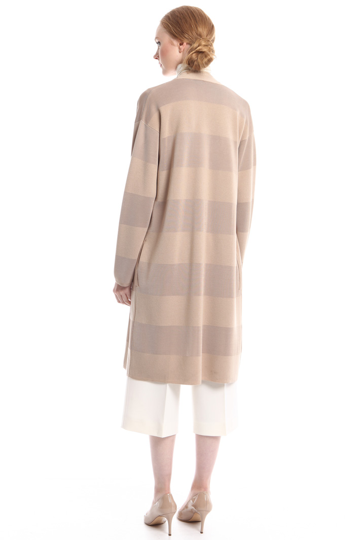 Cardigan a righe in viscosa Fashion Market