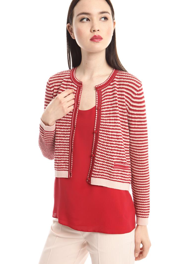 Cardigan girocollo in viscosa Fashion Market