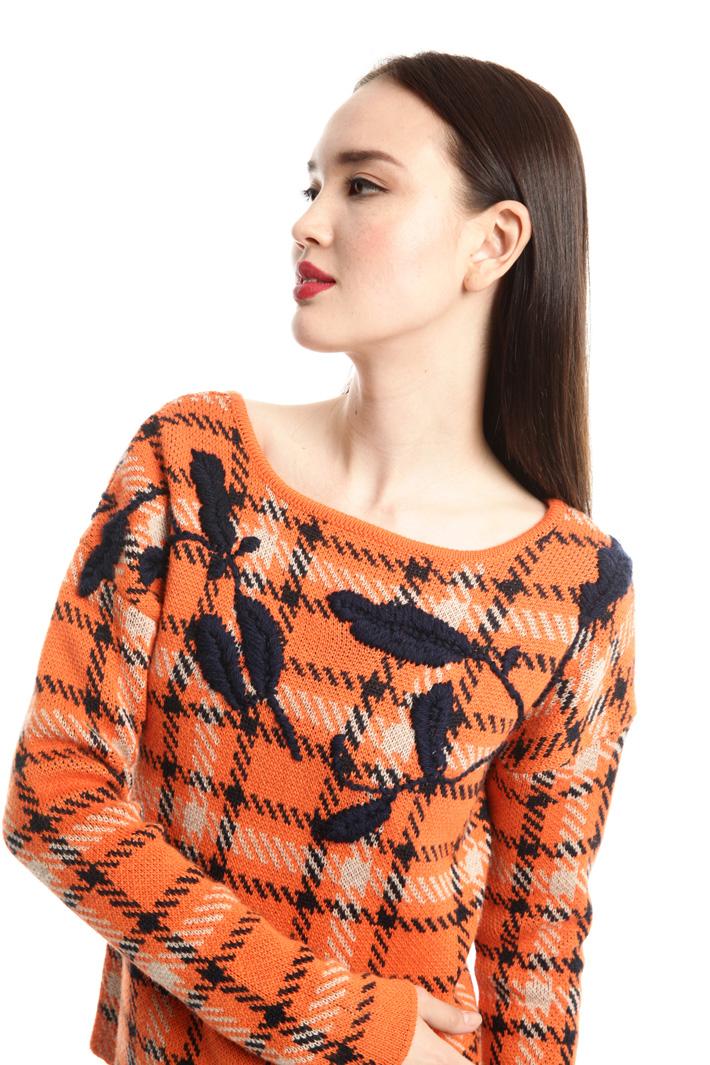 Maglia jacquard con ricamo Fashion Market