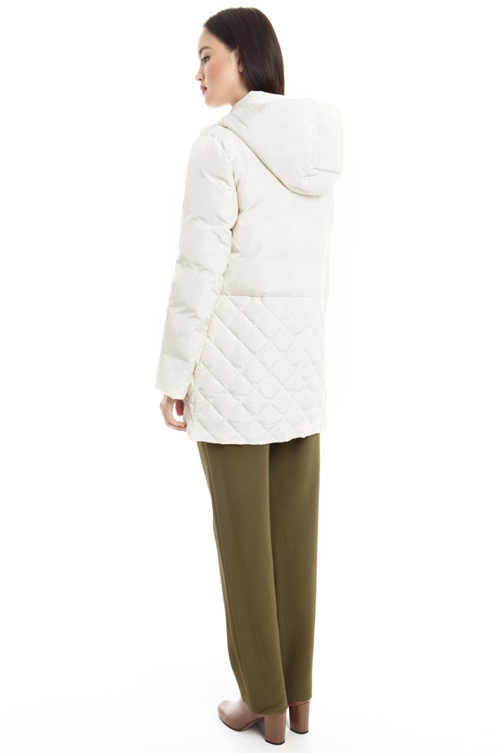 Piumino con inserto pelliccia Fashion Market