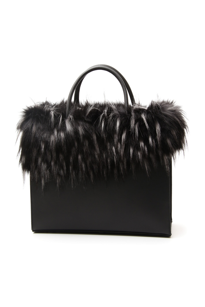 Shopper con similpelliccia Fashion Market