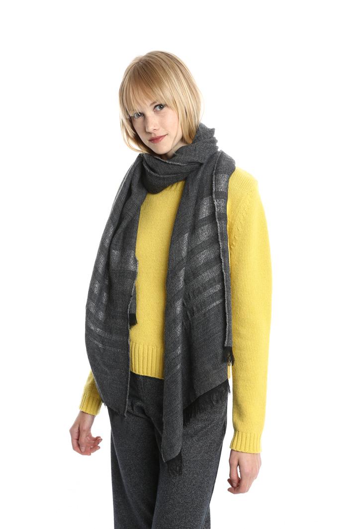 Sciarpa con righe lurex Fashion Market