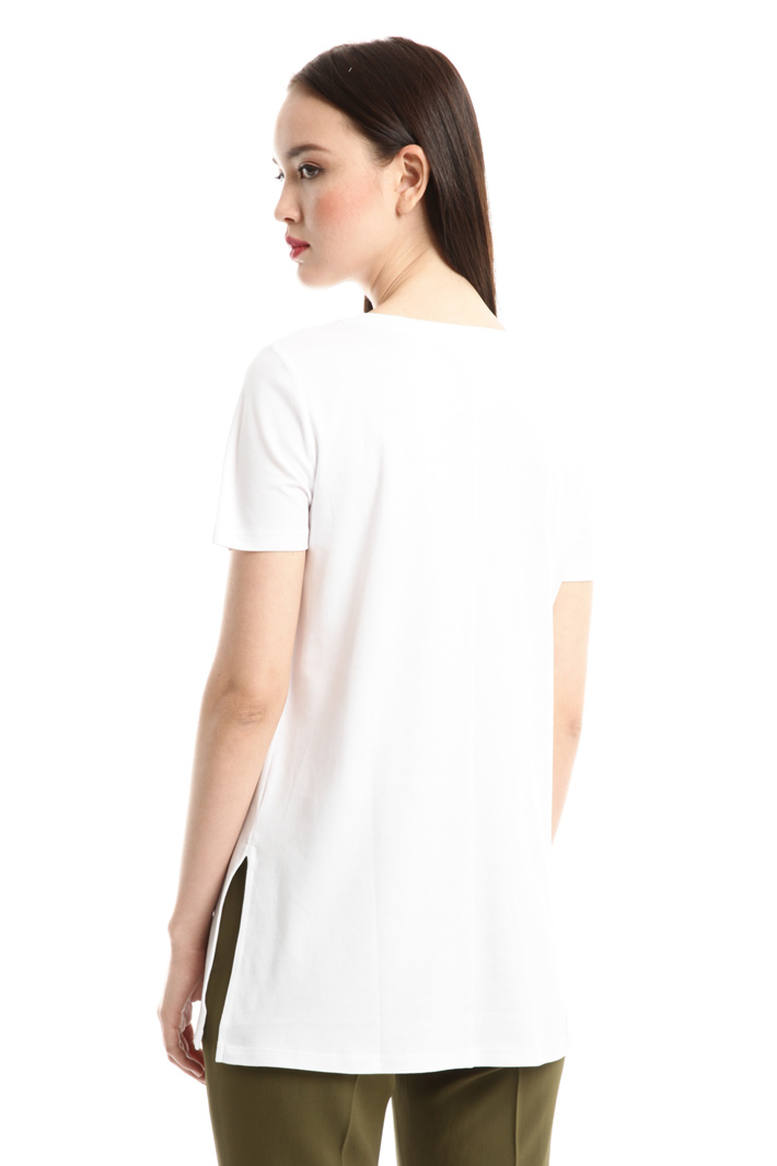 T-shirt con ricamo e stampa Fashion Market