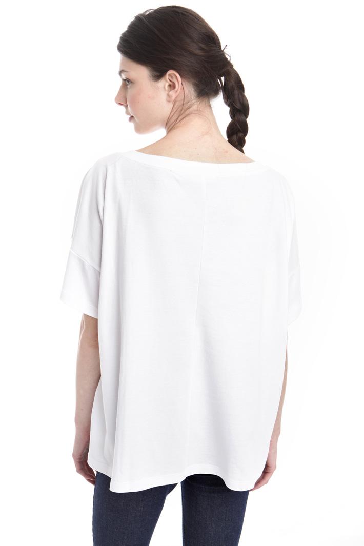 T-shirt boxy con fantasia Fashion Market