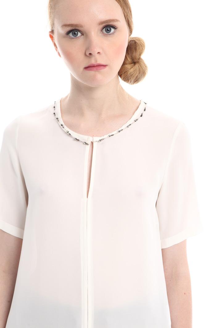 Tunica over in cotone e seta Fashion Market