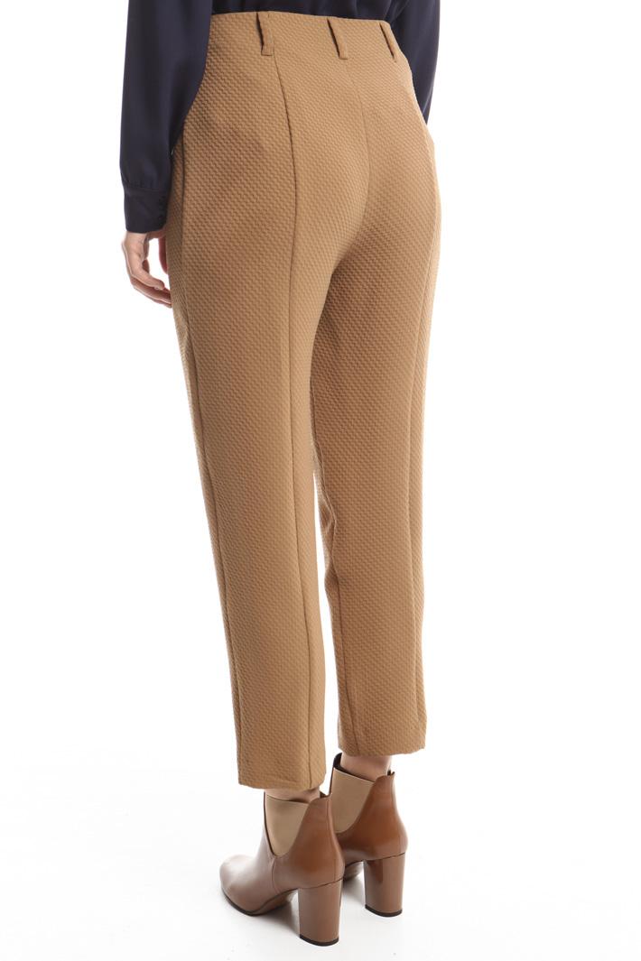Pantaloni in tessuto a rilievo Fashion Market