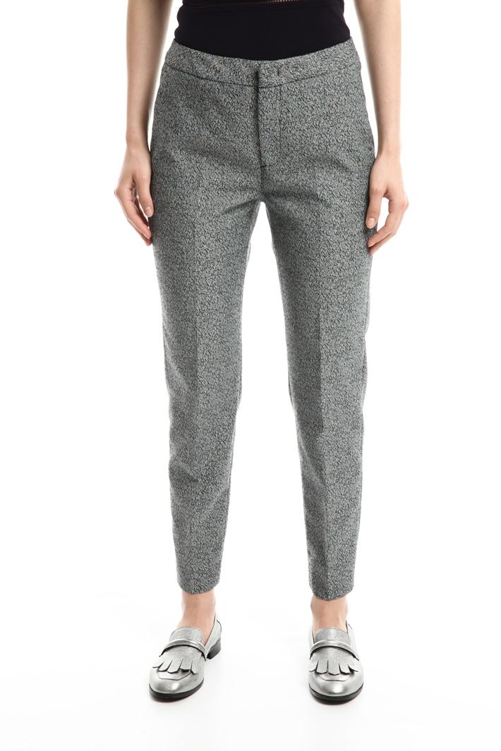 Pantalone in jacquard stretch Fashion Market