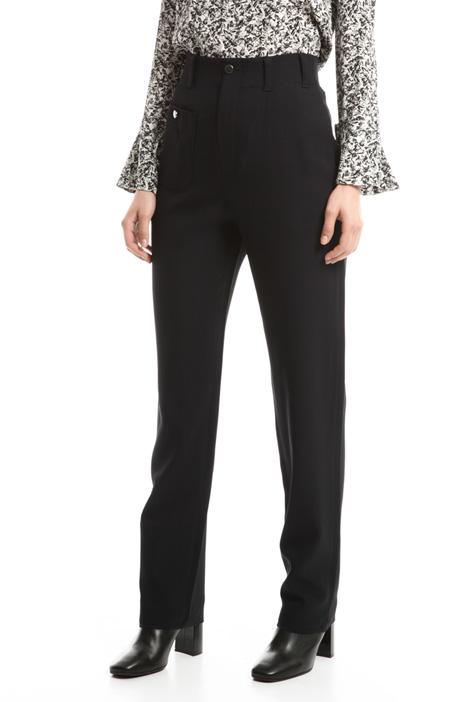 Pantaloni a vita alta in cady Fashion Market