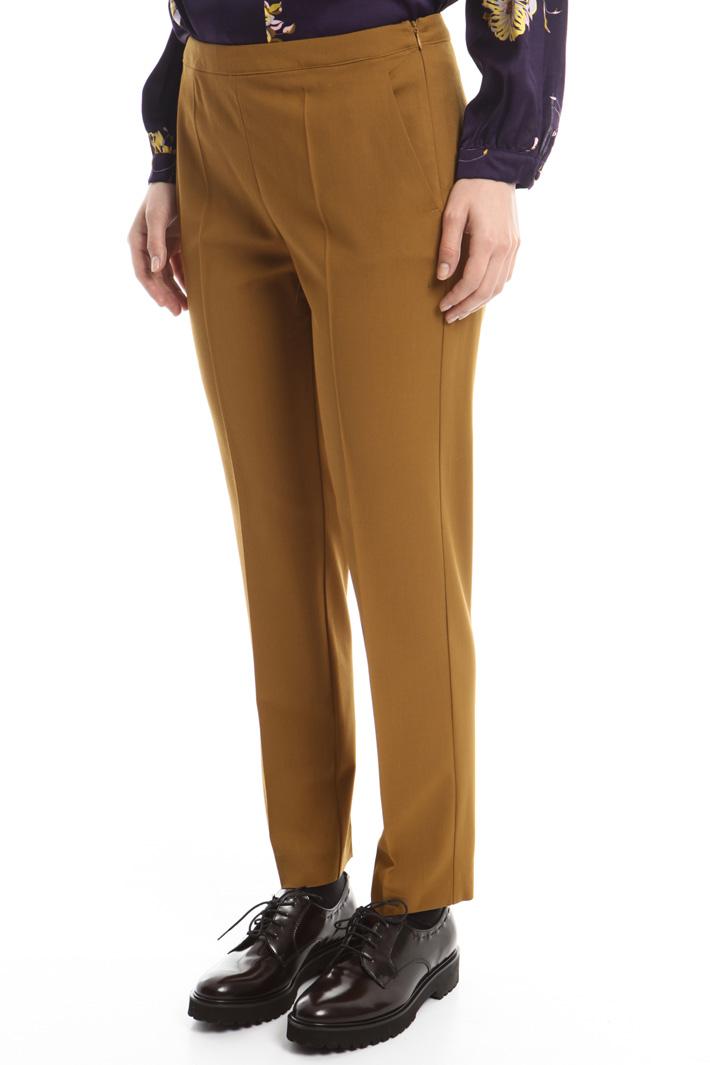 Pantaloni in gabardina stretch Fashion Market