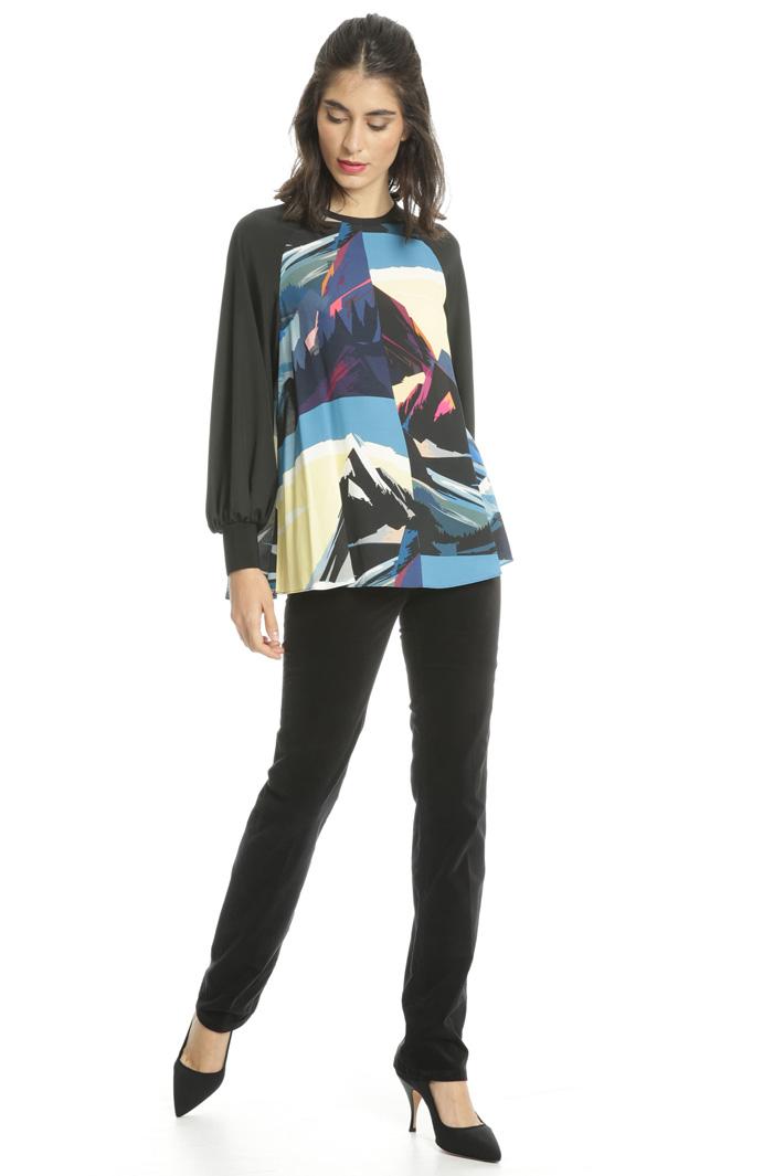 Casacca in viscosa stampata Fashion Market