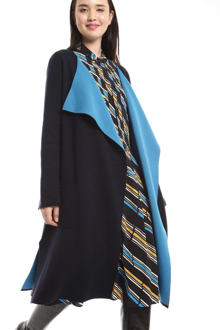 Capospalla in maglia bicolor Fashion Market