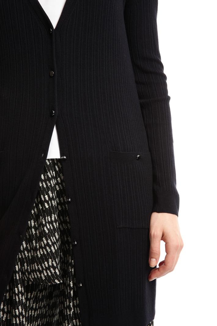 Cardigan a coste in viscosa Fashion Market