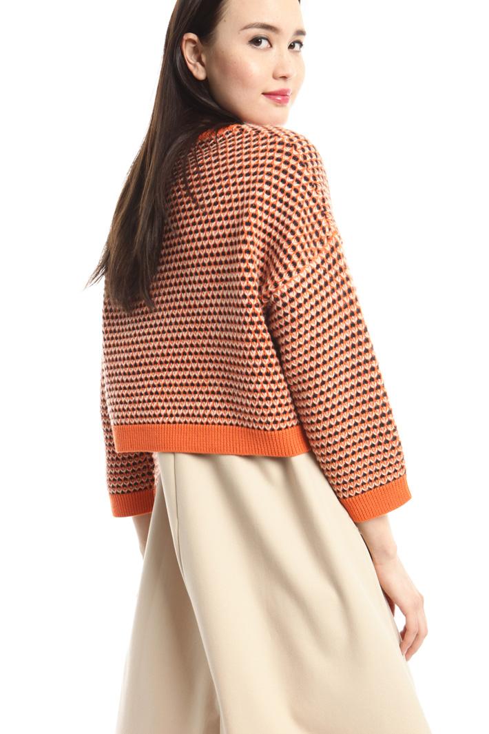 Maglia in lana jacquard Fashion Market