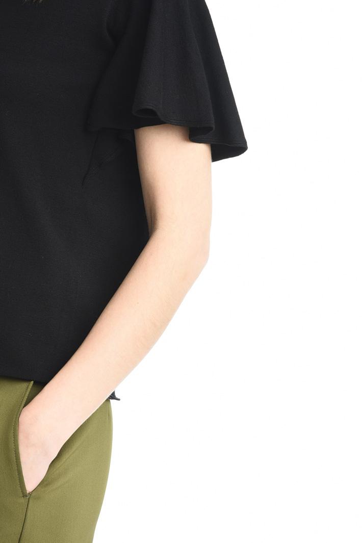 Top con maniche a pieghe Fashion Market