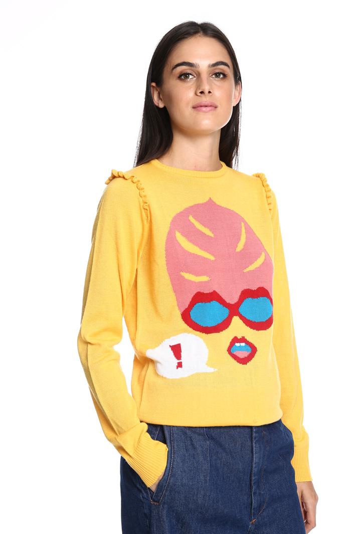Maglia con intarsio Fashion Market