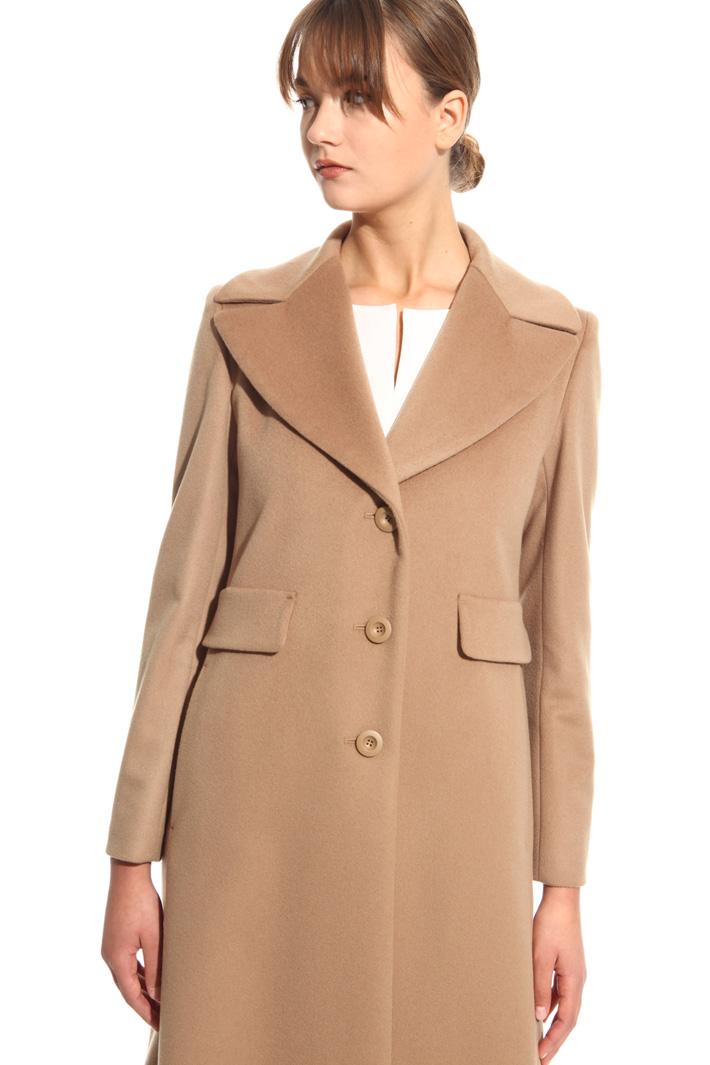 Cappotto lungo con revers Fashion Market