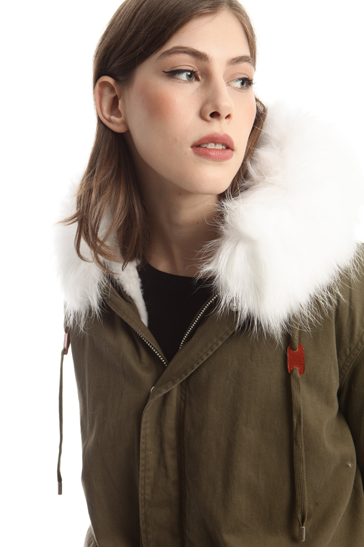 Parka con pelliccia lapin Fashion Market