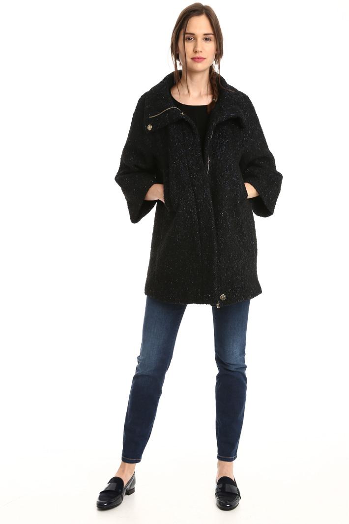 Cappa in tweed di lana Fashion Market