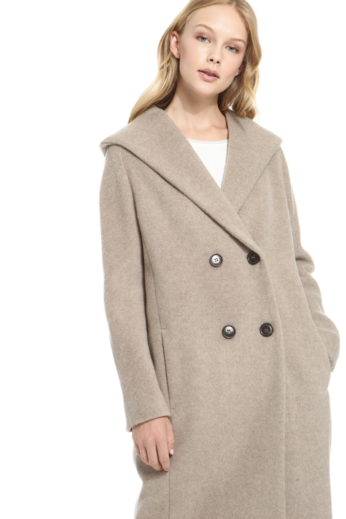 Cappotto doppiopetto in lana Fashion Market