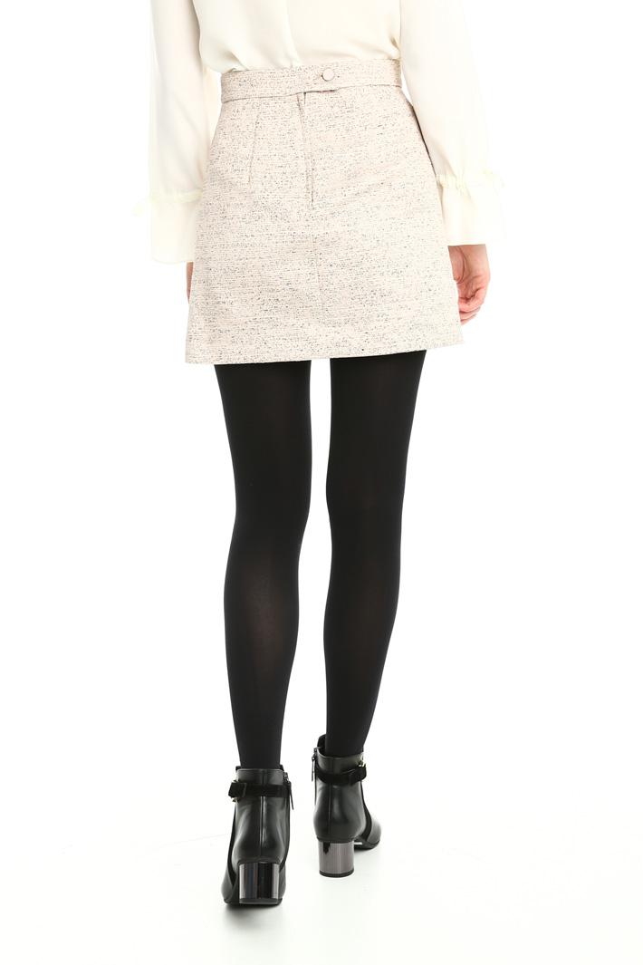 Minigonna in jacquard lurex Fashion Market