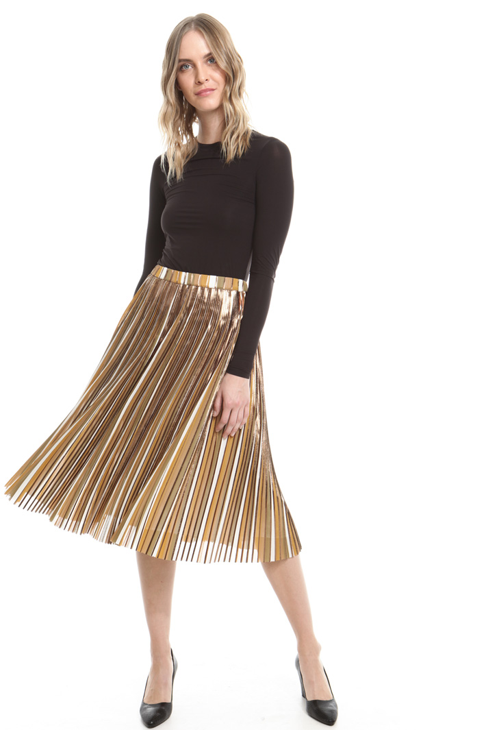 Gonna plissé laminata Fashion Market