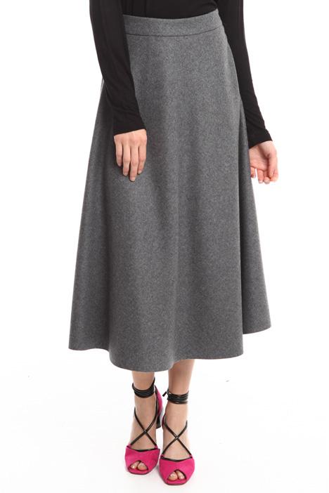 Gonna midi in misto lana Fashion Market