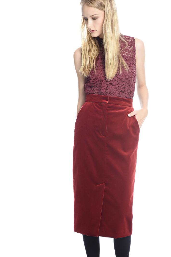 Longuette in velluto liscio Fashion Market