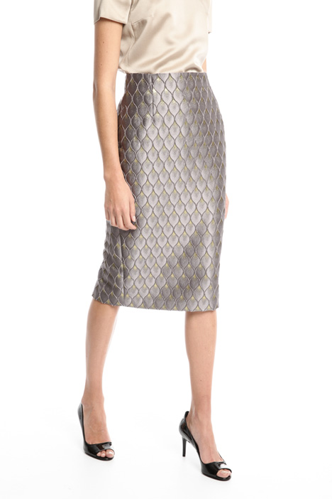 Longuette in jacquard lurex Fashion Market