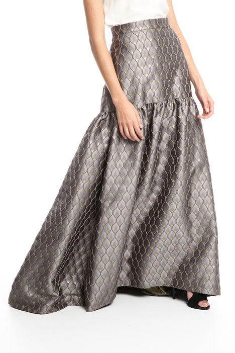 Gonna lunga jacquard lurex Fashion Market