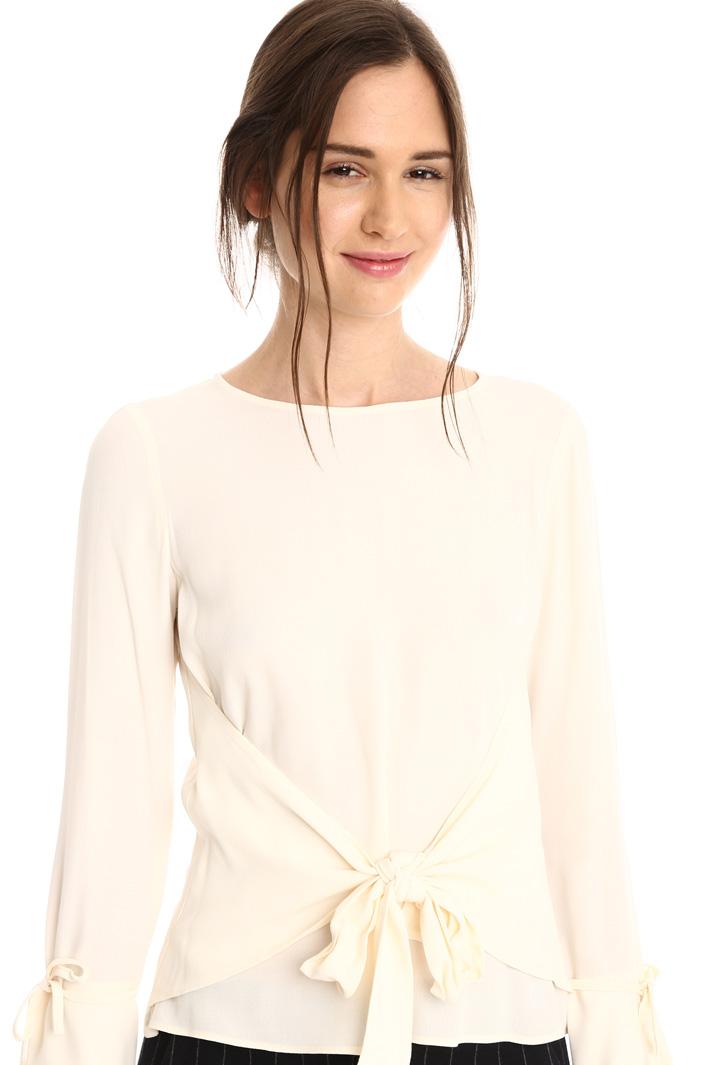 Blusa con nodo in vita Fashion Market
