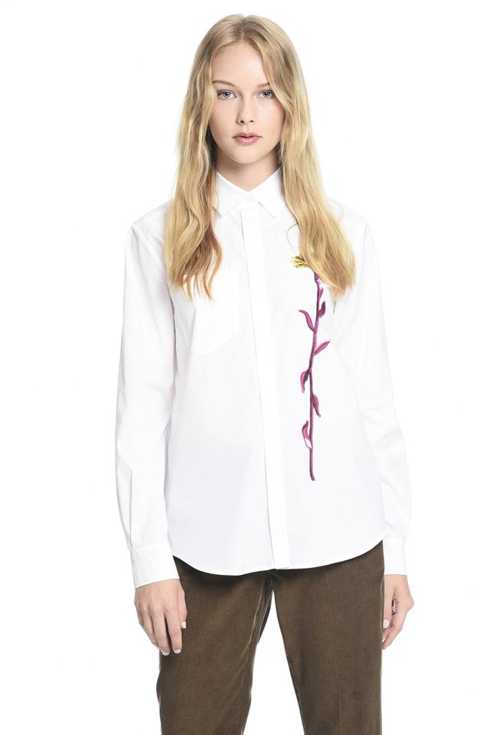 Camicia con ricamo floreale Fashion Market