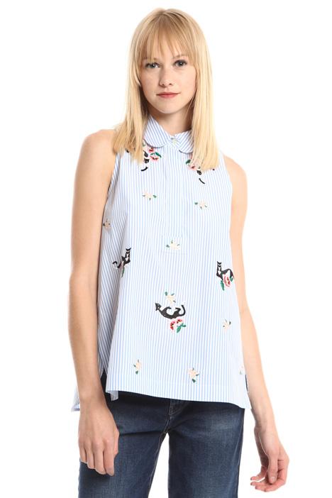 Camicia ricamata senza maniche Fashion Market