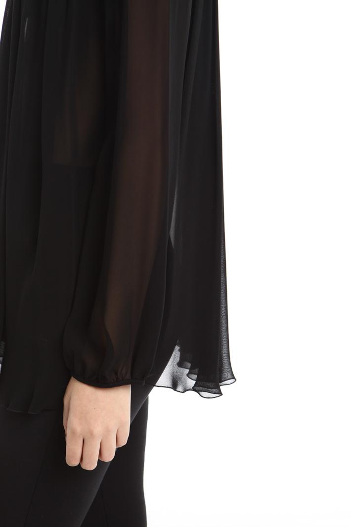 Blusa fluida in georgette Fashion Market