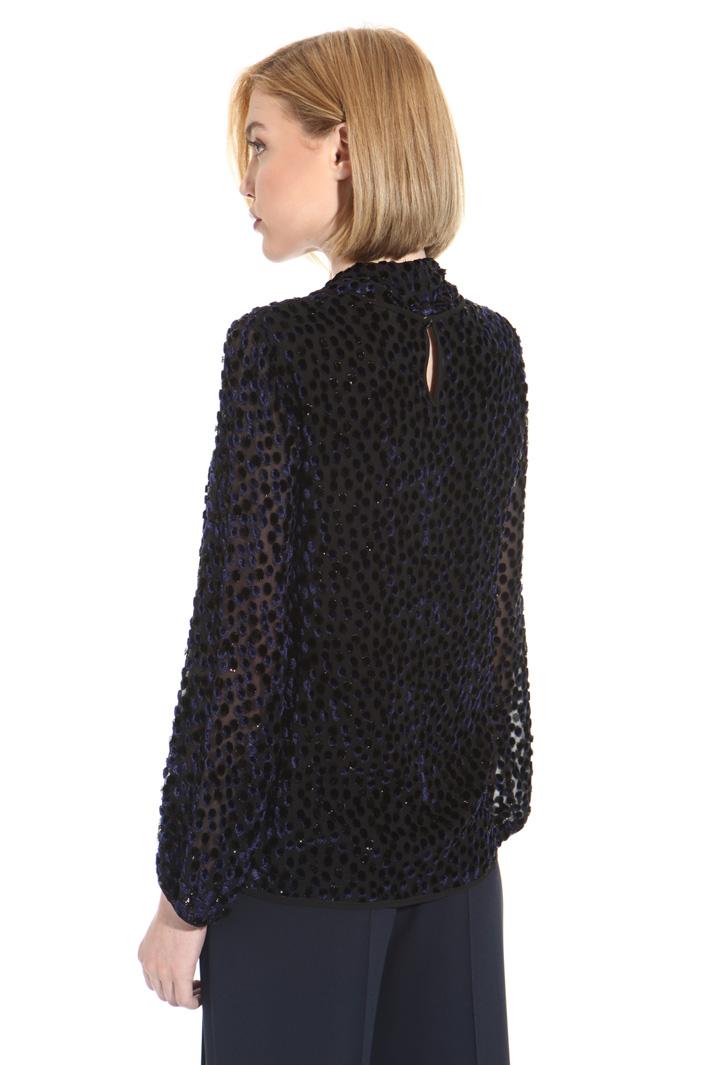 Blusa in seta fil coupè Fashion Market