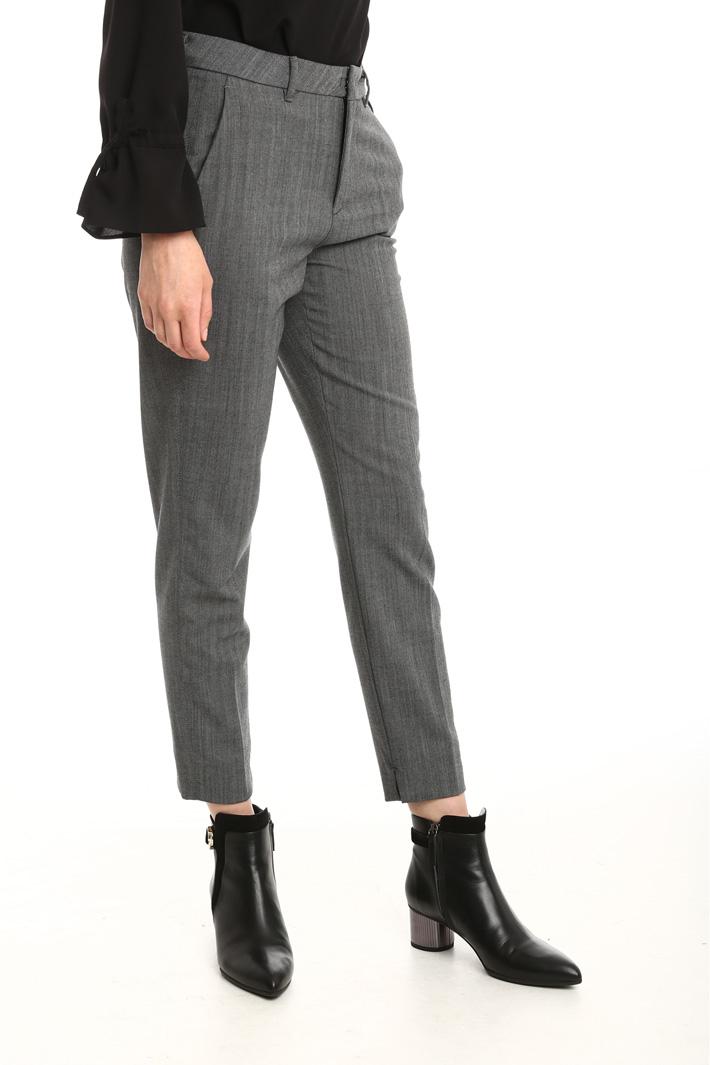 Pantaloni in tessuto stretch Fashion Market