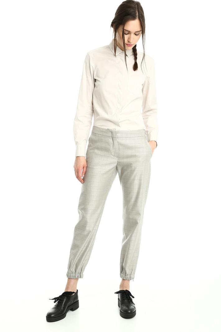 Pantaloni in lana e seta Fashion Market