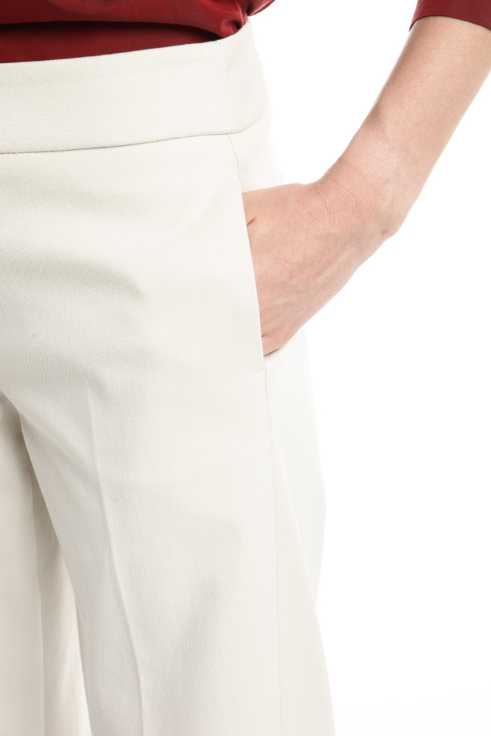 Pantaloni in bull di cotone Fashion Market
