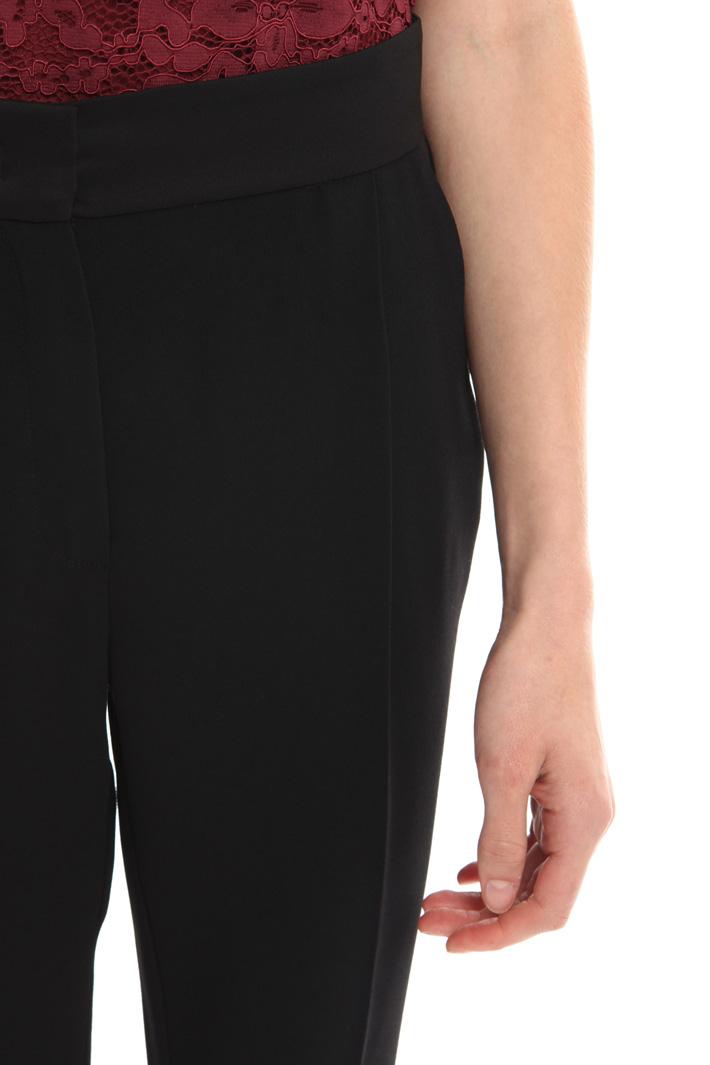 Pantalone in crepe enver satin Fashion Market