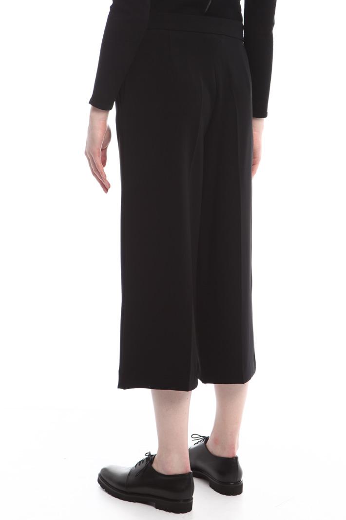 Pantaloni cropped in cady Fashion Market