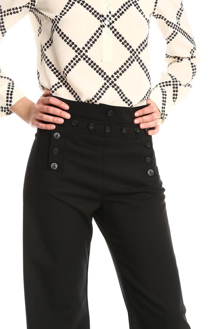 Pantaloni palazzo con bottoni Fashion Market