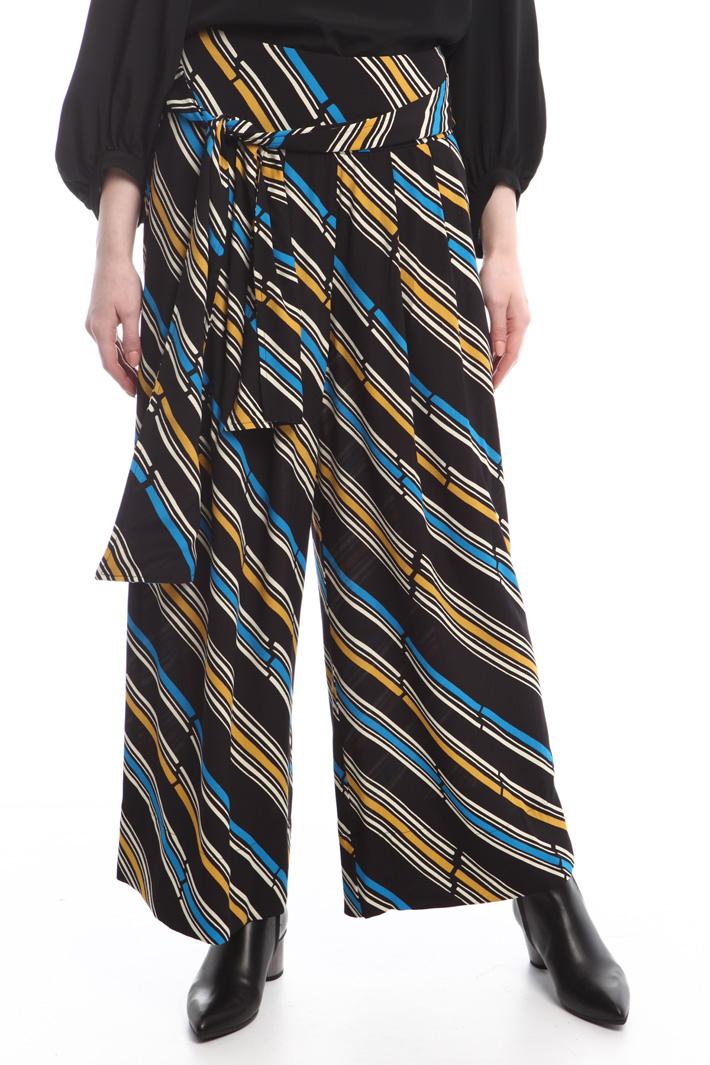 Pantaloni fantasia in crepe Fashion Market