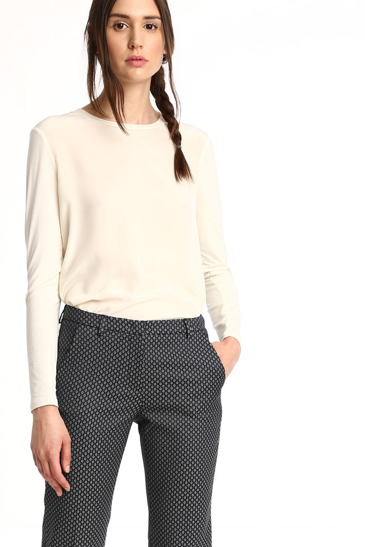 Pantaloni in cotone jacquard Fashion Market