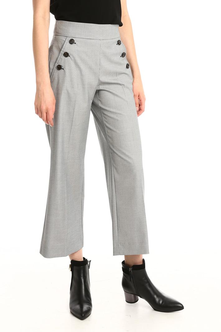 Pantalone cropped con bottoni Fashion Market
