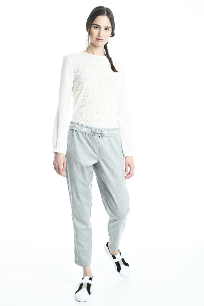Pantalone jogging in flanella Fashion Market