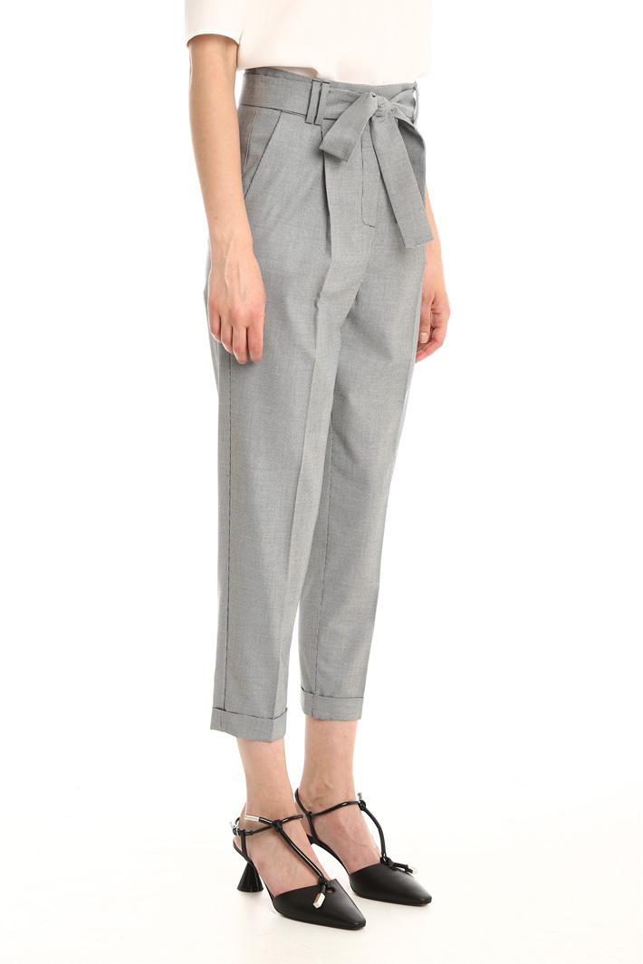Pantalone con cintura abbinata Fashion Market