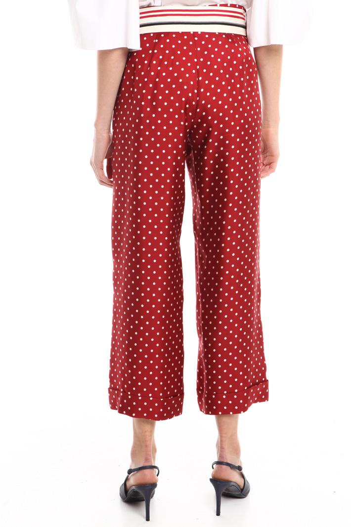 Pantalone in twill di seta Fashion Market