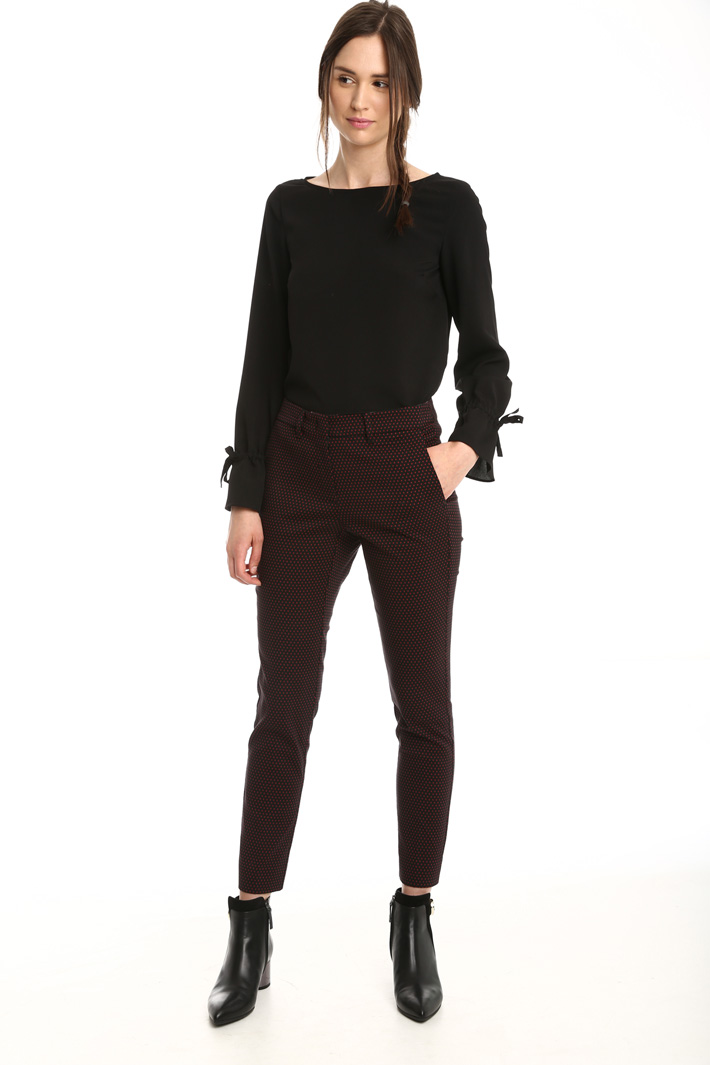 Pantalone jacquard stretch Fashion Market