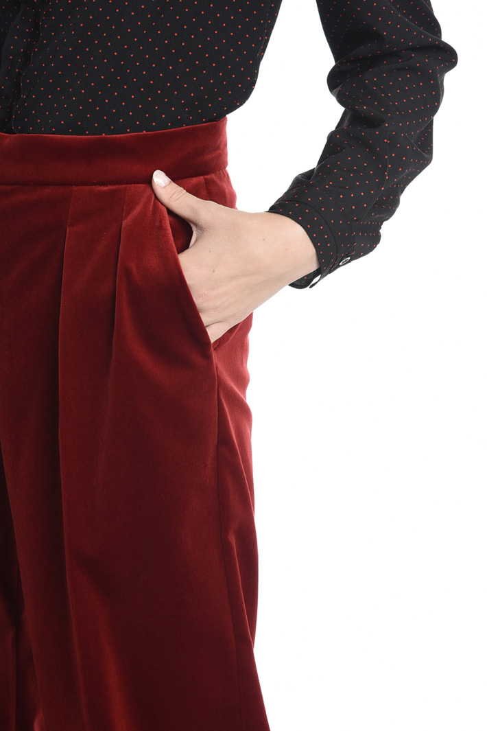 Pantaloni in velluto liscio Fashion Market